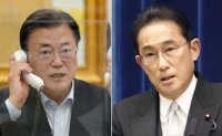 Moon, Kishida agree to accelerate diplomatic consultations to resolve forced labor row