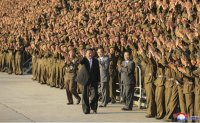 North Korean leader visits mausoleum of late leaders to mark founding anniversary
