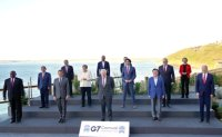 Moon at the G7 summit in the UK [PHOTOS]