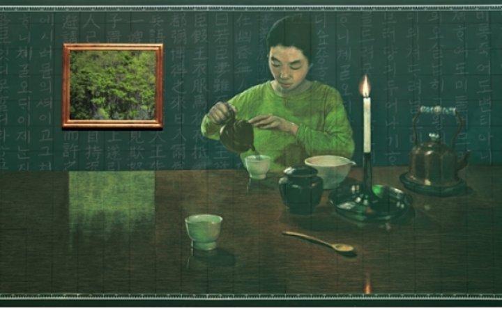 Kim Myong-hi's chalkboard paintings capture sense of displacement