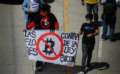 'Bitcoin is fraud': Salvadorans march against Bukele's economic policies