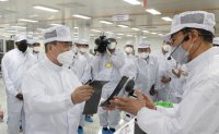 Moon visits SK's battery plant construction site in US