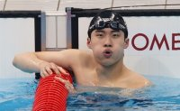 Korea's young swimmer demonstrates potential for future golds