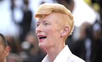 Collared: Tilda Swinton's spaniels win Palm Dog at Cannes