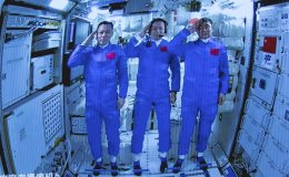 First astronauts arrive at China's space station