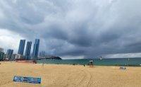 Tropical storm Lupit approaching East Sea near Korea, heavy rain forecast