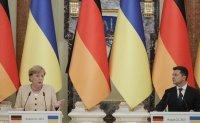Merkel, Ukrainian leader discuss peace efforts, gas pipeline