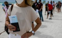 'Vaccine tourists' fly from abroad for injections on US beach