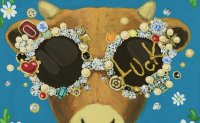 Bovine-themed exhibition features stars' artworks