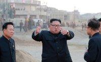 North Korean leader criticizes sanctions at a resort construction site