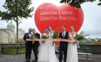 Swiss voters firmly back same-sex marriage
