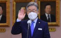 Ruling party presidential candidate rebuts criticisms on Seongnam scandal