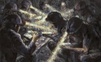 Painter-cum-miner portrays dark tales
