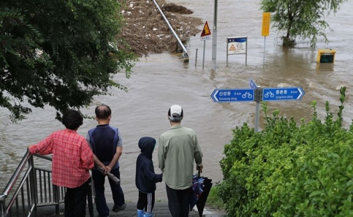 Southern Korea hit by devastating downpours