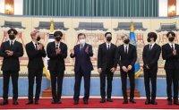BTS named Moon's envoys for future generation