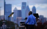 Obama hits campaign trail for Biden