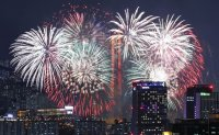 Colorful fireworks paint Seoul skies [PHOTOS]
