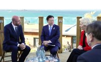 Moon holds talks with EU leaders on COVID-19, climate