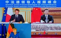 Macron, Merkel hold video talks with Xi