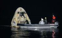 SpaceX returns 4 astronauts to Earth, rare night splashdown