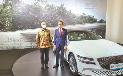Hyundai Motor chairman to support creation of EV ecosystem in Indonesia