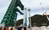 Korea unveils homegrown space rocket for first time