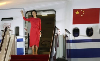 Huawei executive lands in China after deal with US