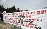 Korean USFK workers protest