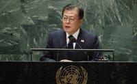 Moon proposes formal end to Korean War in UN speech