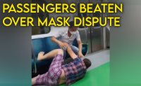 Man brutally attacks passengers on subway who said to wear mask