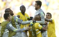 Brazil edges Chile in shootout, Rodriguez inspires Colombia